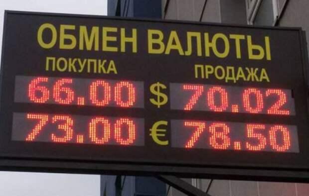 В России вступил в силу запрет на уличные табло с курсами валют