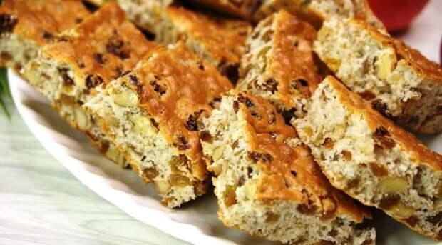 Рецепт мягкого печенья «Все по два» с изюмом и орехами