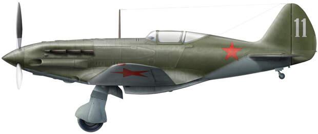 МиГ-3 из 31-го ИАП, лето 1941 года. Реконструкция по фото, художник Владимир Камский - Крылатые предвестники войны | Warspot.ru