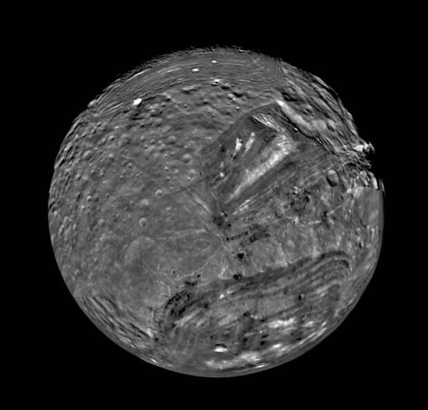 1986. Снимок Миранды, луны Урана. 24 января