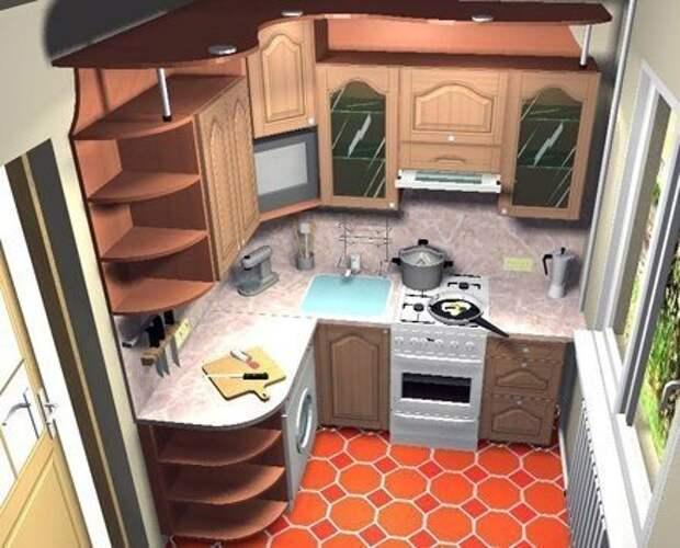 Как обставить кухню площадью 6 метров: полезные советы