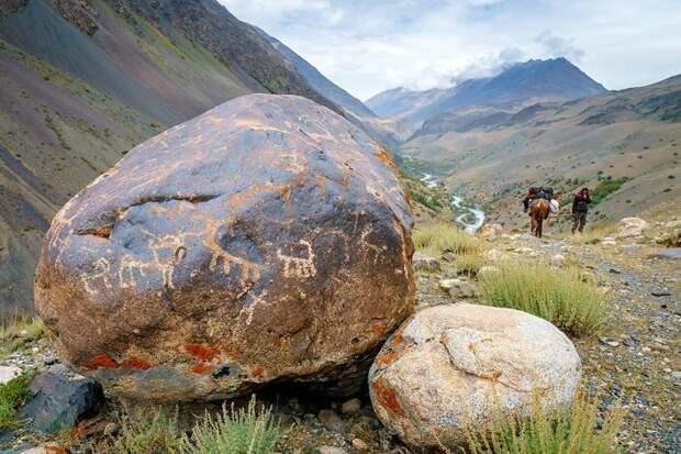 Петроглифы Ваханский коридор, афганистан, вид, горы, природа, путешествие, фотомир