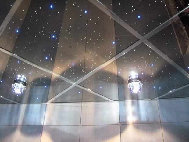 Что собой представляет зеркальный потолок?