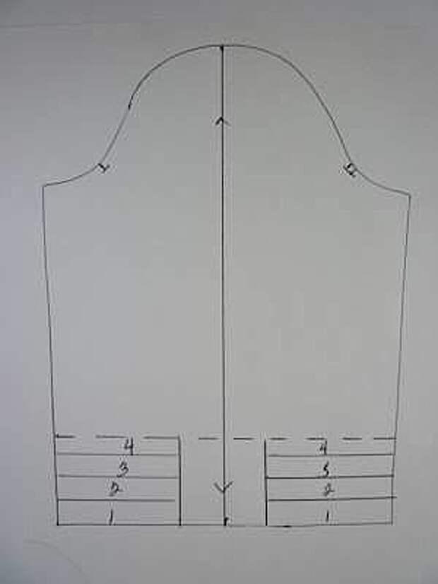 выкройка узкого рукава со сборкой на локте