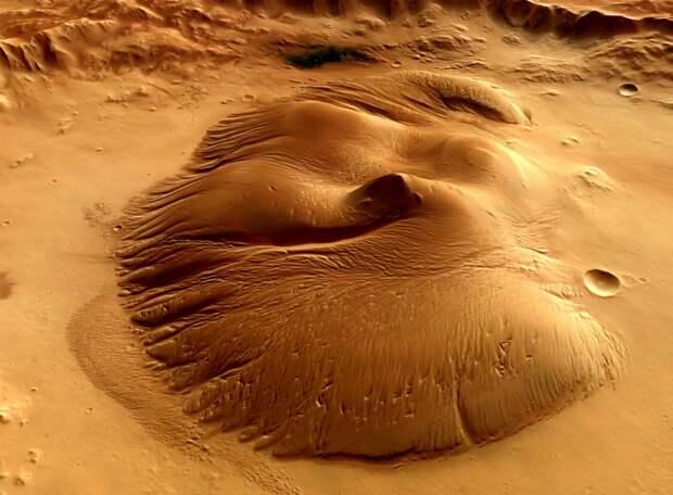 2012. Марс. Впечатляющие виды кратера «Николсон»