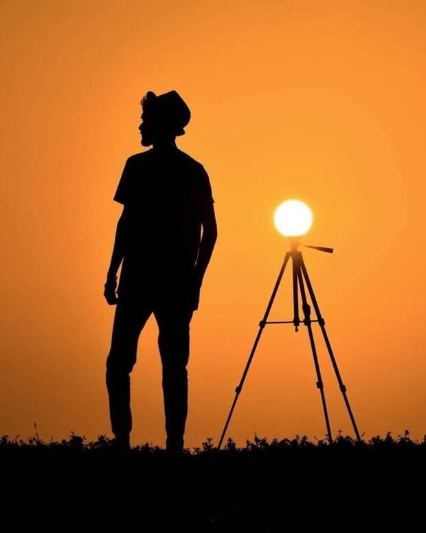 27 красивых фотокартин изсерии «Силуэты заката»