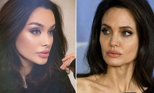 Русскую Анджелину Джоли не могут отличить от звезды: они похожи как две капли воды