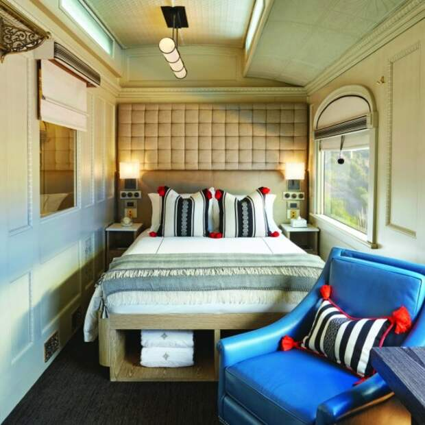Интерьер купе шикарного перуанского поезда. /Фото: thebetterplaces.com