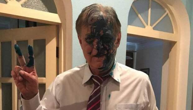 Украинские националисты напали на главу Росгвардии с фекалиями (ВИДЕО)