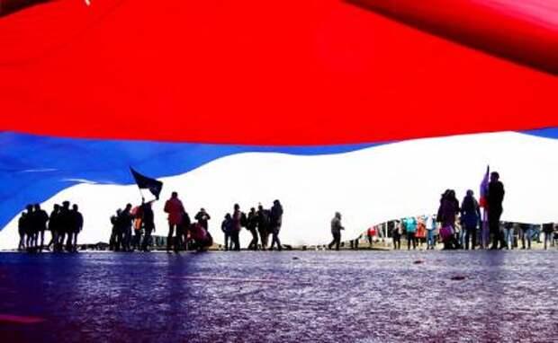 На фото: празднование Дня народного единства в Москве