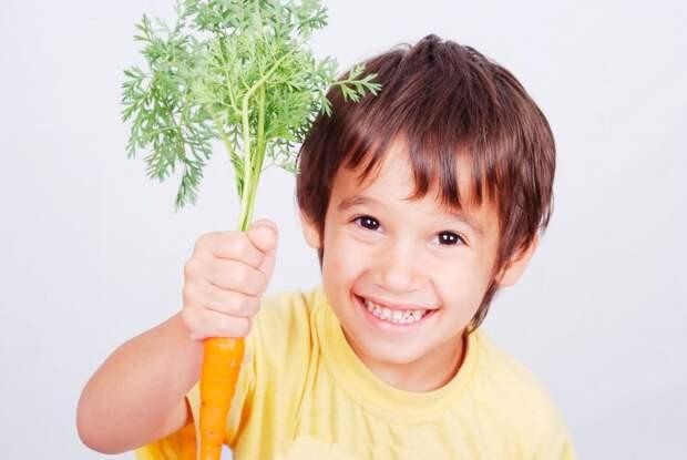 морковь детям