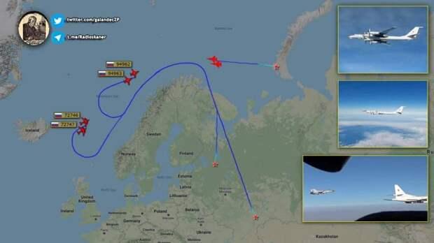 Пара Ту-160 отработала учебный удар по Великобритании