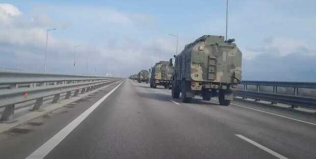 Минобороны РФ объяснило причину отправки военной техники в Крым