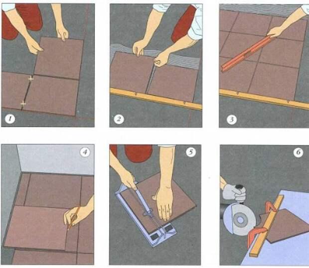 5 советов как научиться укладке плитки абсолютно с нуля