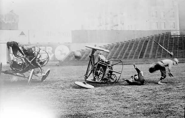Автомобильное поло: опасная игра для джентльменов на колесах XX век, авто, автомобильное поло, автоспорт, архивные снимки, архивные фото, начало века, познавательно