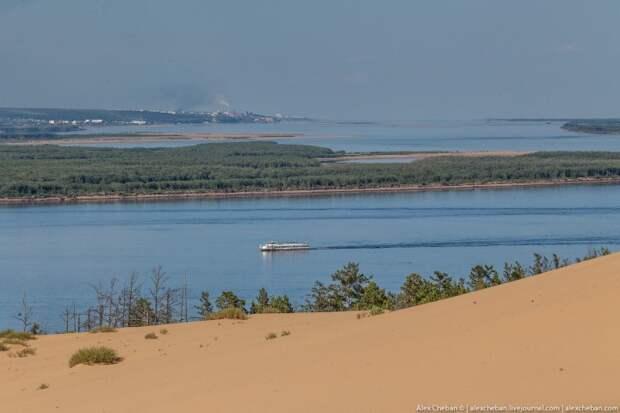 Песчаные барханы посреди суровых якутских снегов... Необычная Якутия.