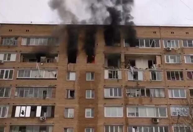 Взрыв прогремел в жилой девятиэтажке в подмосковных Химках