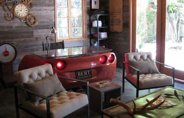 Бочка в ванной, гамак в гостиной и автомобиль. Показываем, что такое настоящий мужской интерьер