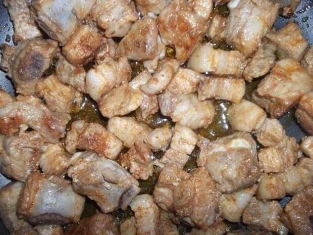 Тушёное мясо в кисло-сладком соусе
