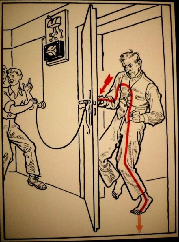 30 способов, которые могут привести к смерти от поражения электрическим током иллюстрация, книга, опасность, правила, ток, факты