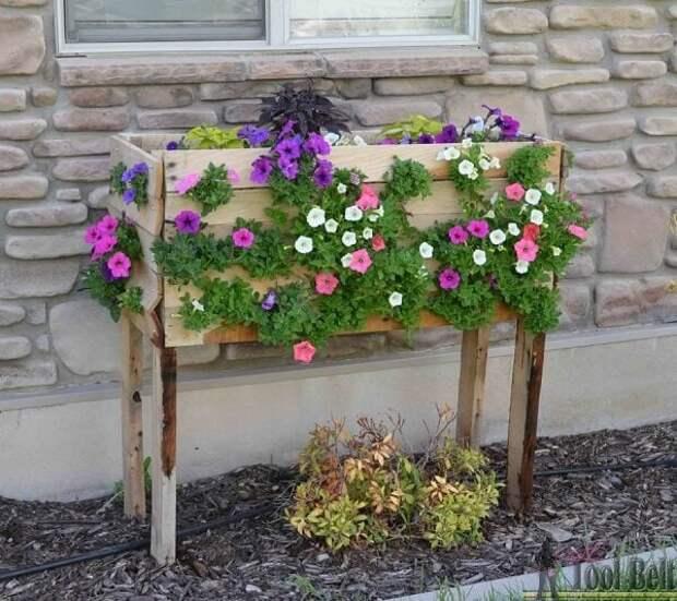 Гармоничное сочетание: идеальный вариант для живых цветов — деревянные кашпо и ящики