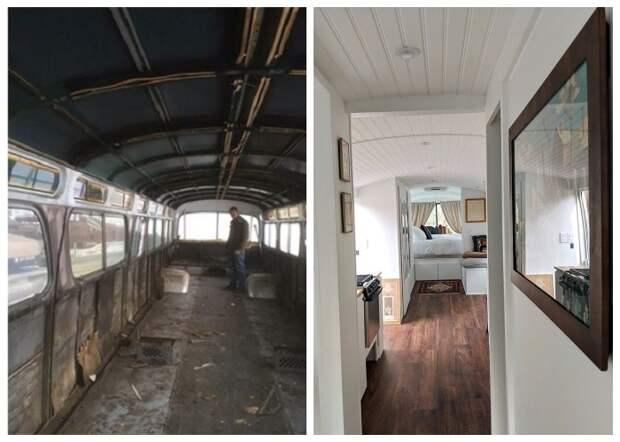 Чудесное превращение старого автобуса в полноценный дом на колесах («Greyhound»).
