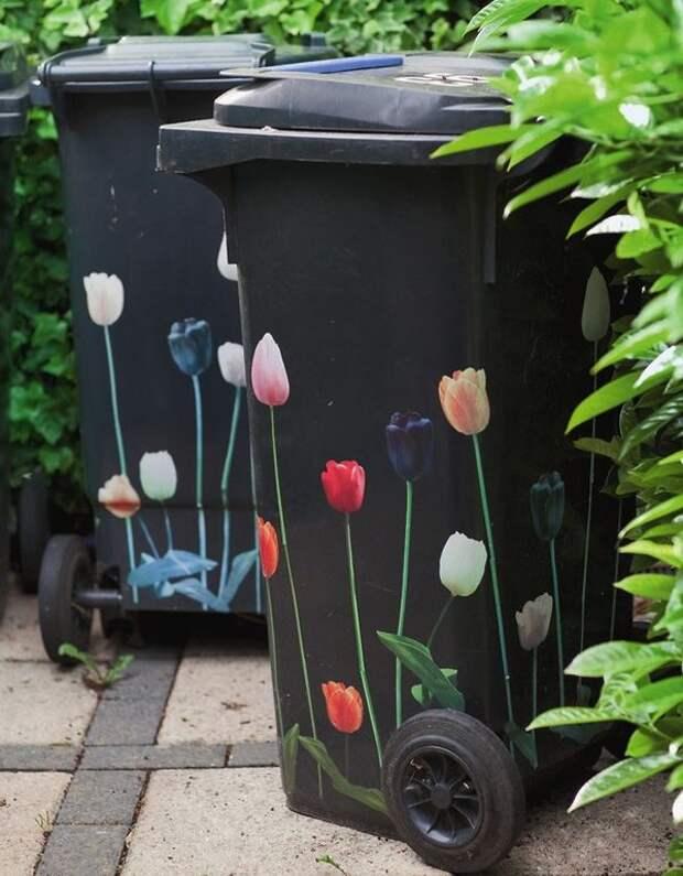 Декор мусорных баков