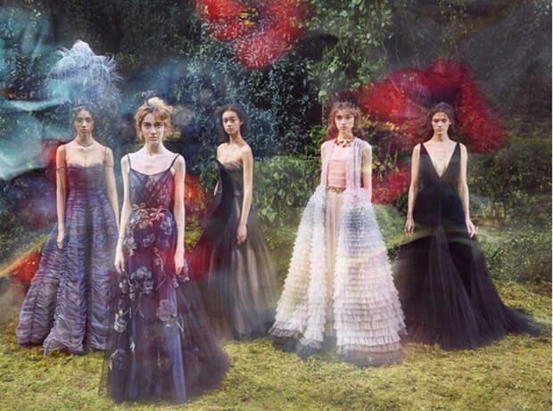 Рекламные съемки дома Dior.
