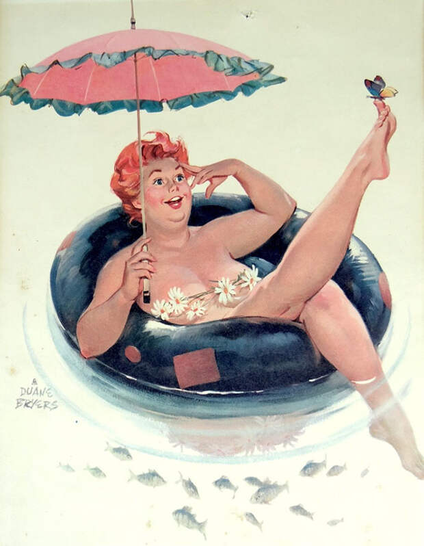 Сексапильная Хильда, пышная звезда пин-апа 50-х