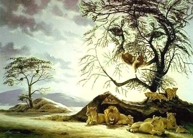 тест со львами