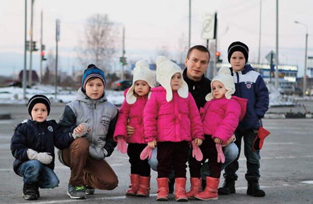 Многодетное счастье: Как одинокий отец шестерых малышей нашел спутницу жизни