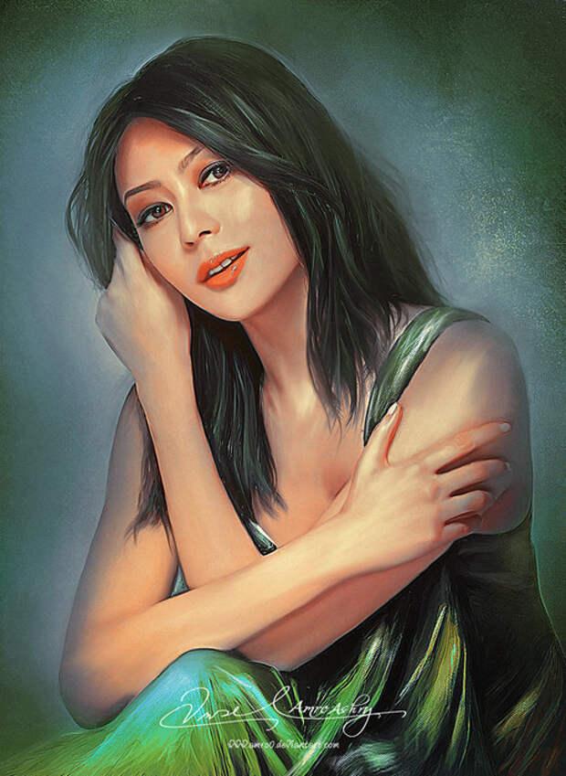 женские портреты художника Амро Ашри Amro Ashry