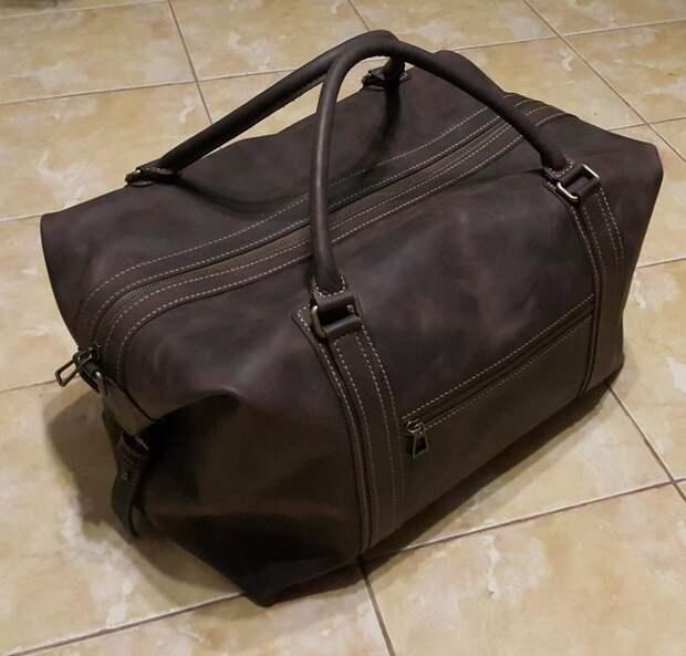Дорожная сумка из кожи своими руками
