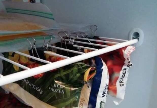 24. Эффективное использование места в морозилке гениально, для дома, идеи, подборка, полезное, полезные идеи, советы, хитрости