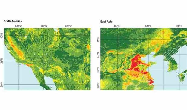 антропогенное воздействие, изменения климата, Мировой океан, суша