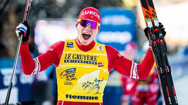 Большунов стал победителем индивидуальной гонки в Фалуне