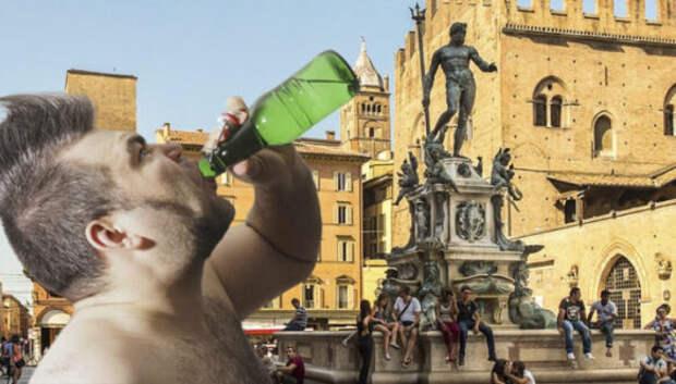 Губит людей не пиво: полуголые ирландцы устроили попойку в историческом фонтане в Италии