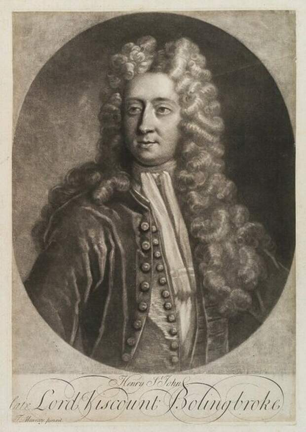 Henry St John, 1st Viscount Bolingbroke by George White, after Thomas Murray, circa 1714-1715. Национальная портретная галерея в Лондоне
