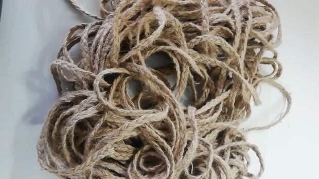 Интересный способ плетения джутовой верёвкой