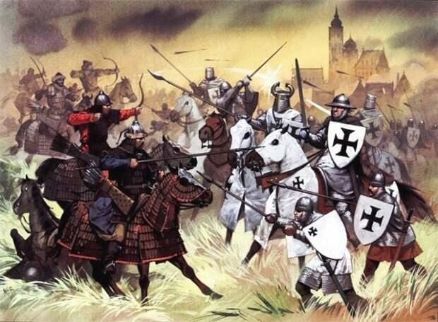 Татары сражаются против крестоносцев