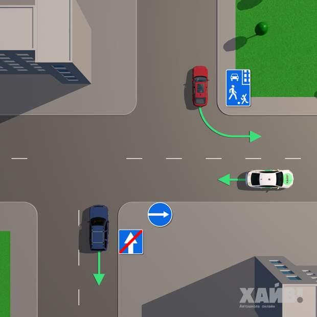 В этих местах запрещено движение задним ходом