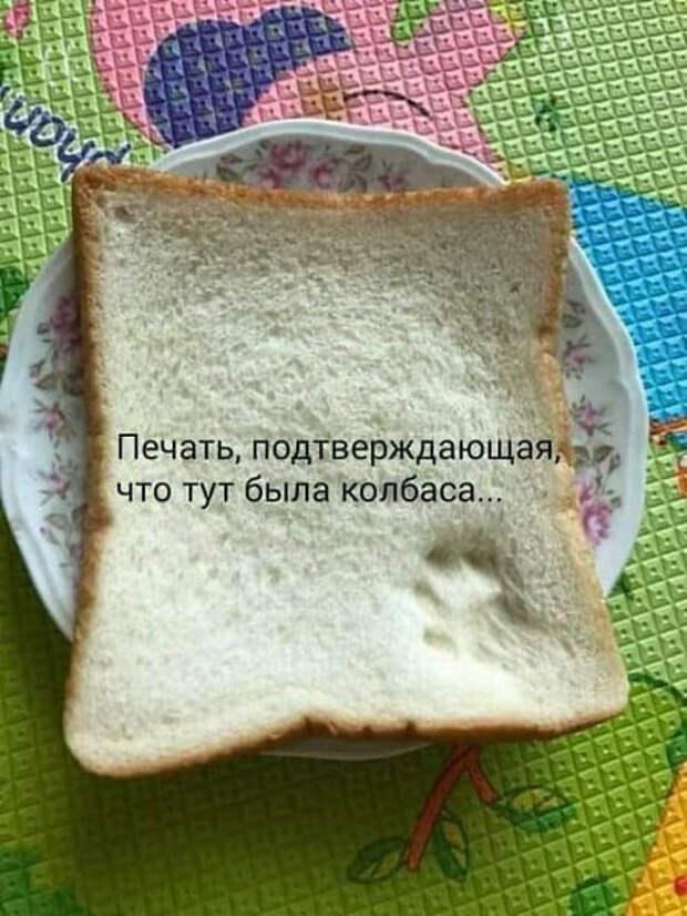 Возможно, это изображение (текст «печать, подтверждающая, что тут была колбаса...»)