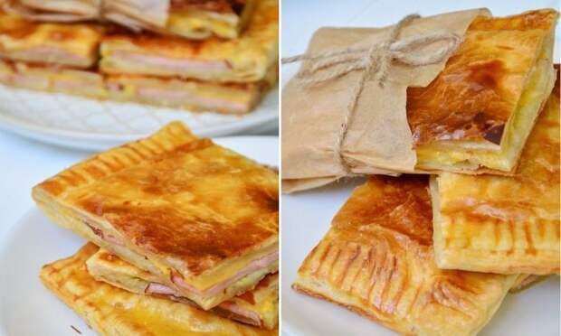 Конвертики с ветчиной и сыром — удобный и вкусный перекус