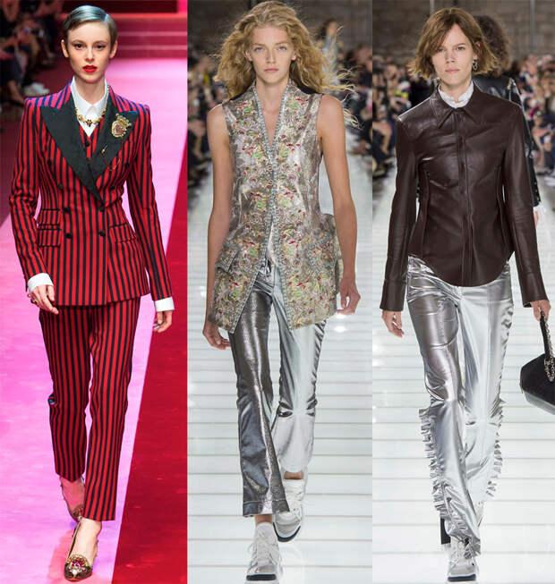 Подборка актуальных брюк и брючных костюмов в сезоне 2018
