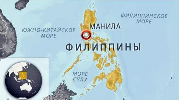Карта Филлипин