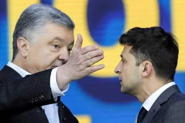 На Украине сравнили рейтинги Зеленского, Порошенко и их партий