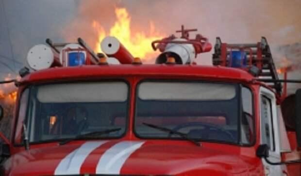 Под Оренбургом тушат крупный пожар в дачном массиве