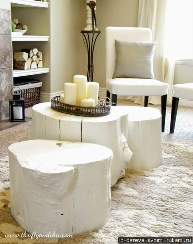 Мебель из пней. Ход работы по созданию мебели из пня и шикарные идеи