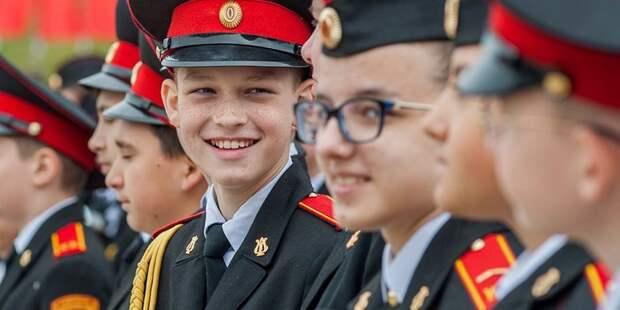 Кадеты «Перспективы» продемонстрировали военную выправку на торжественном марше