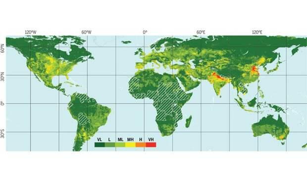 К 2040 году ниже уровня моря окажется дополнительно почти 12 миллионов квадратных километров суши — это больше территории США или Китая